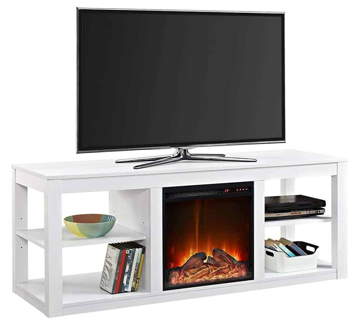 "Ameriwood Home Parsons Electric Fireplace for TVs up to 65"" Wide"
