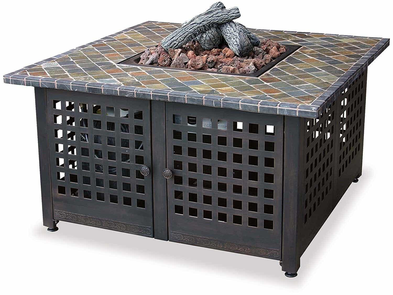 Blue Rhino Endless Summer, GAD860SP, LP Gas Outdoor Firebowl with Slate/Marble Mantel