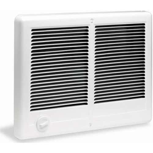 Cadet Com-Pak Twin 3000W, 240V Most Popular Large Room Electric Wall Heater with Thermostat
