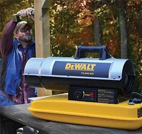 DeWalt DXH75KT Kerosene Heater, 75K BTU