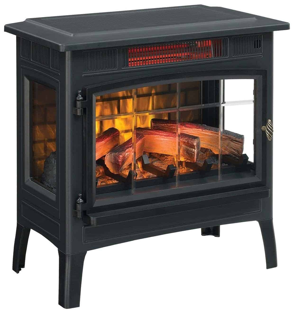 Duraflame DFI-5010-01 Infrared Quartz Fireplace Stove with 3D Flame Effect and Remote Control