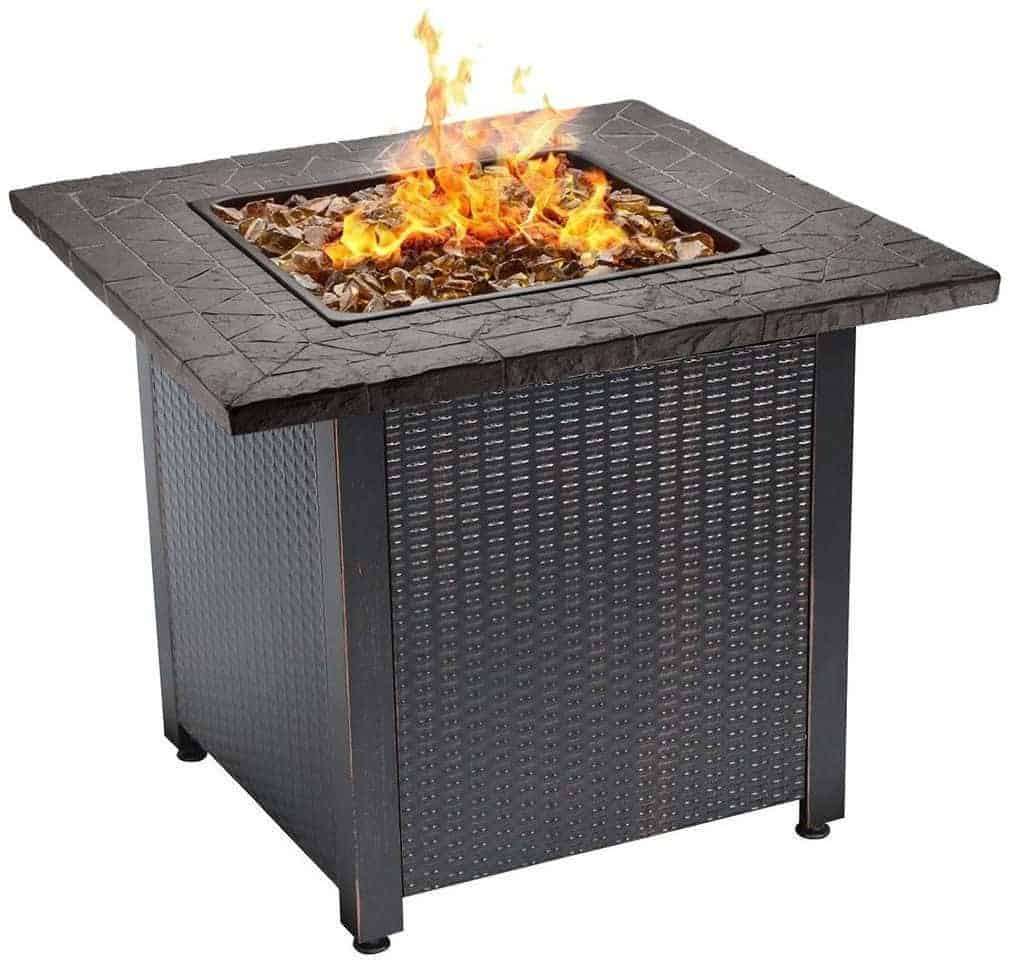 Endless Summer Decorative Push Button Start All Weather Outdoor LP Gas Fire Pit