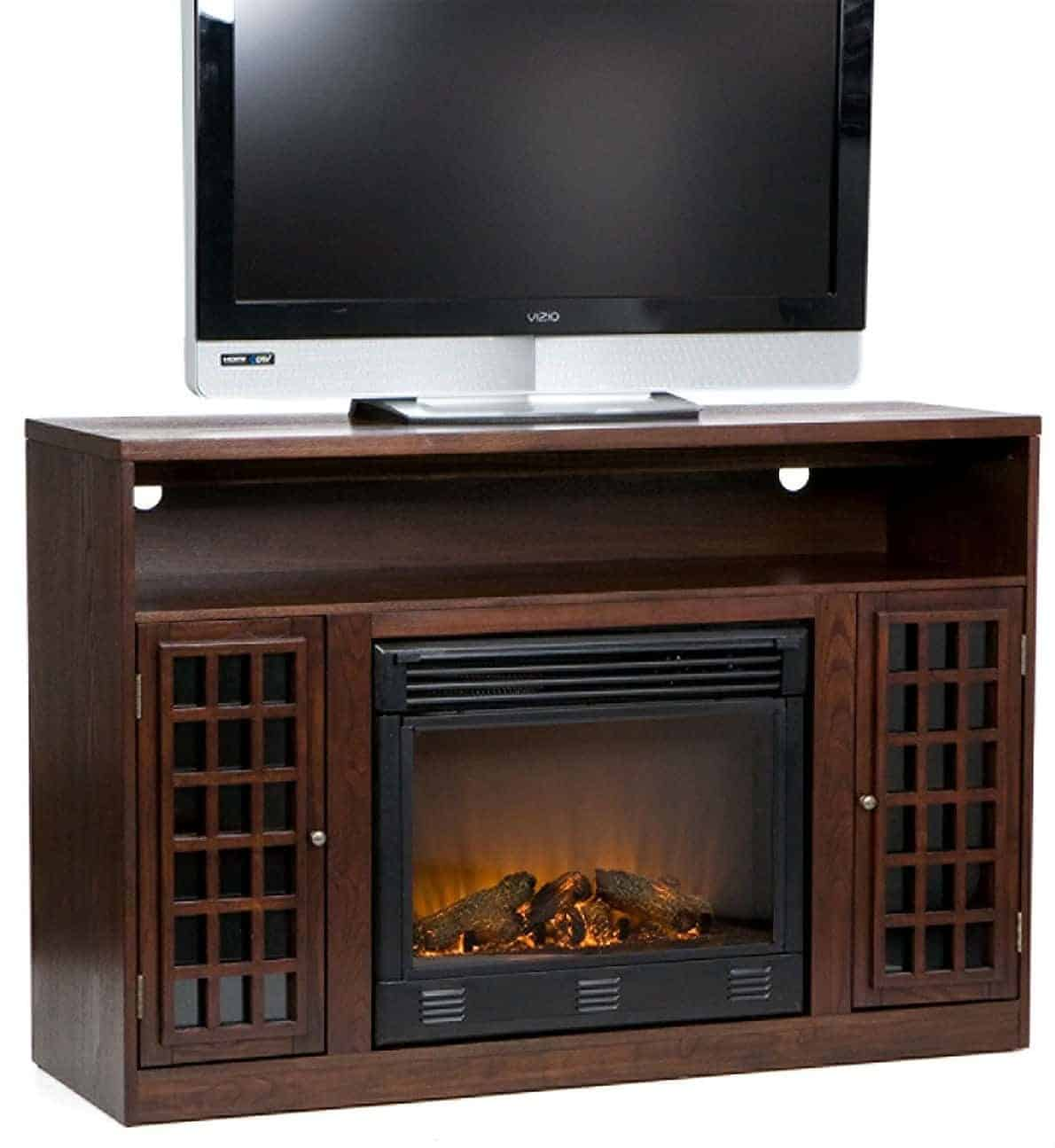 Southern Enterprises Narita Media Electric Fireplace - Espresso