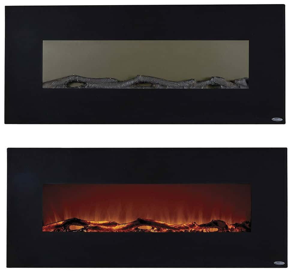 Touchstone 80001 Onyx Wall Hanging Electric Fireplace, 50 Inch Wide