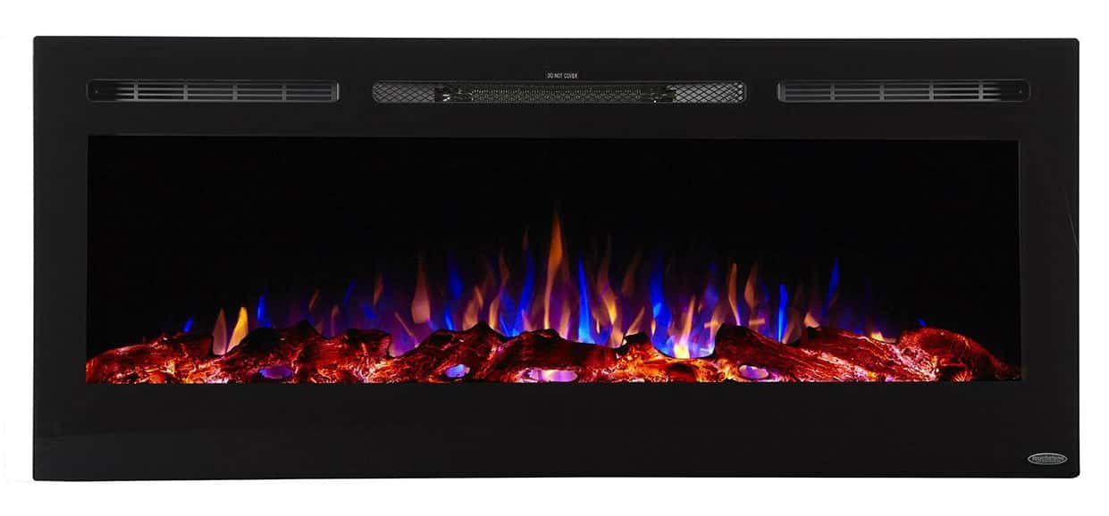 Touchstone Sideline Recessed Mounted Electric Fireplaces - 50 Inch