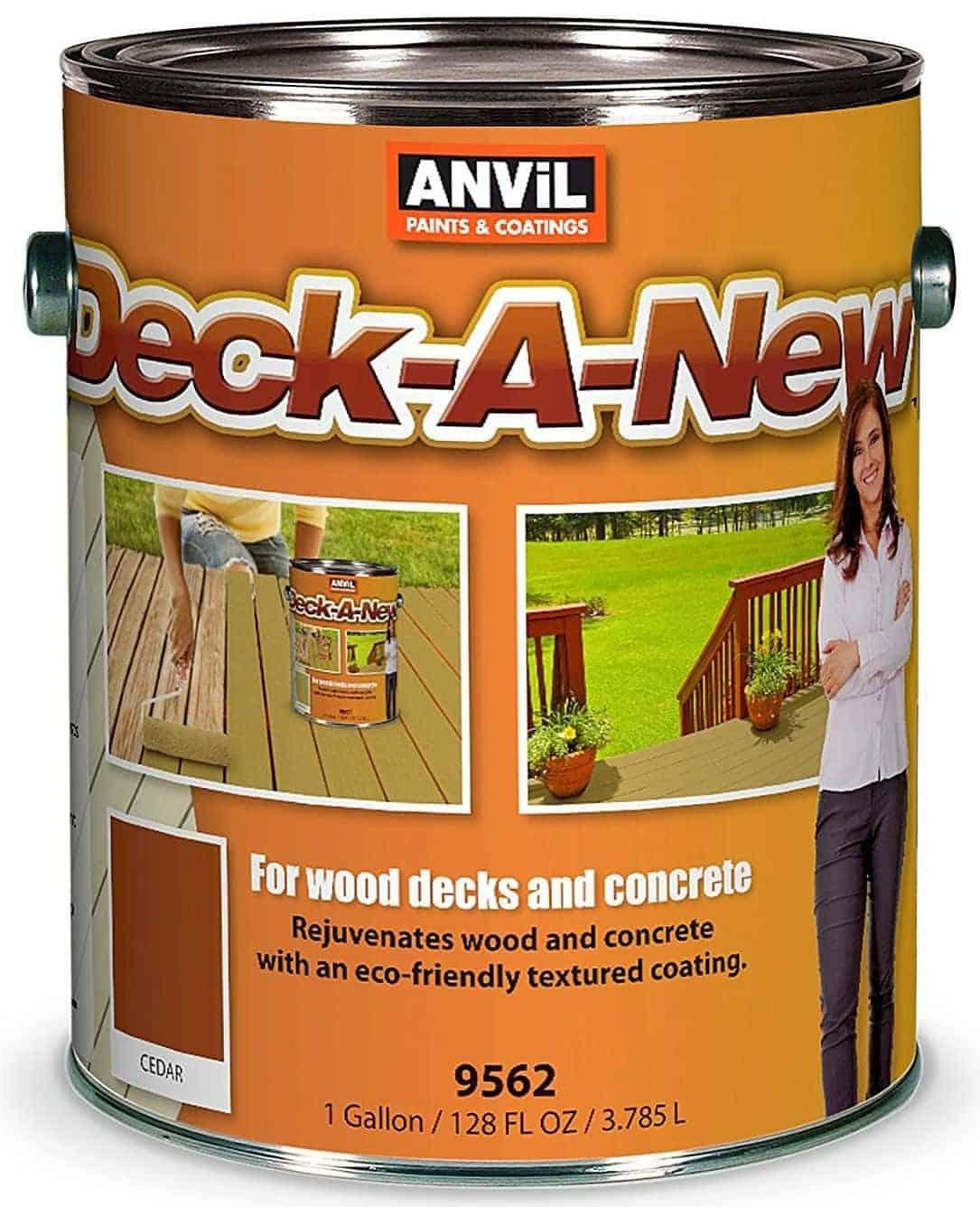 Anvil Deck-A-New Rejuvenates Wood & Concrete Decks Premium Textured Resufacer