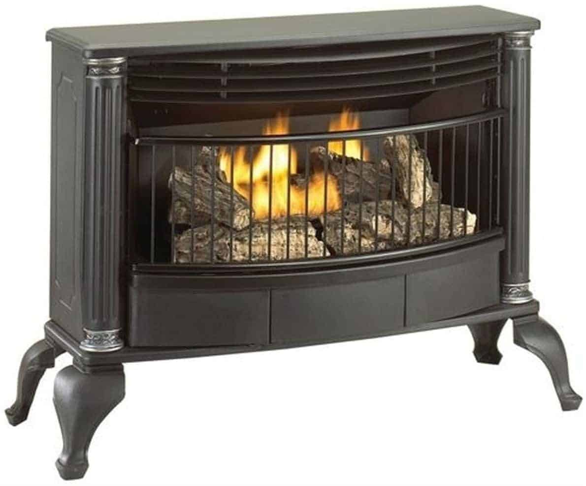 Cedar Ridge Hearth Ventless T-Stat Natural Gas or Liquid Propane Gas Stove