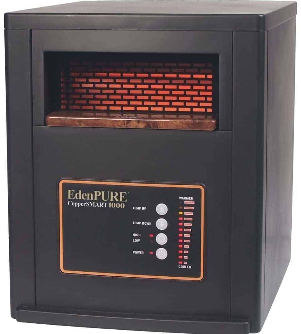 EdenPURE CopperSMART 1500-Watt Electric Portable Heater with Remote Control