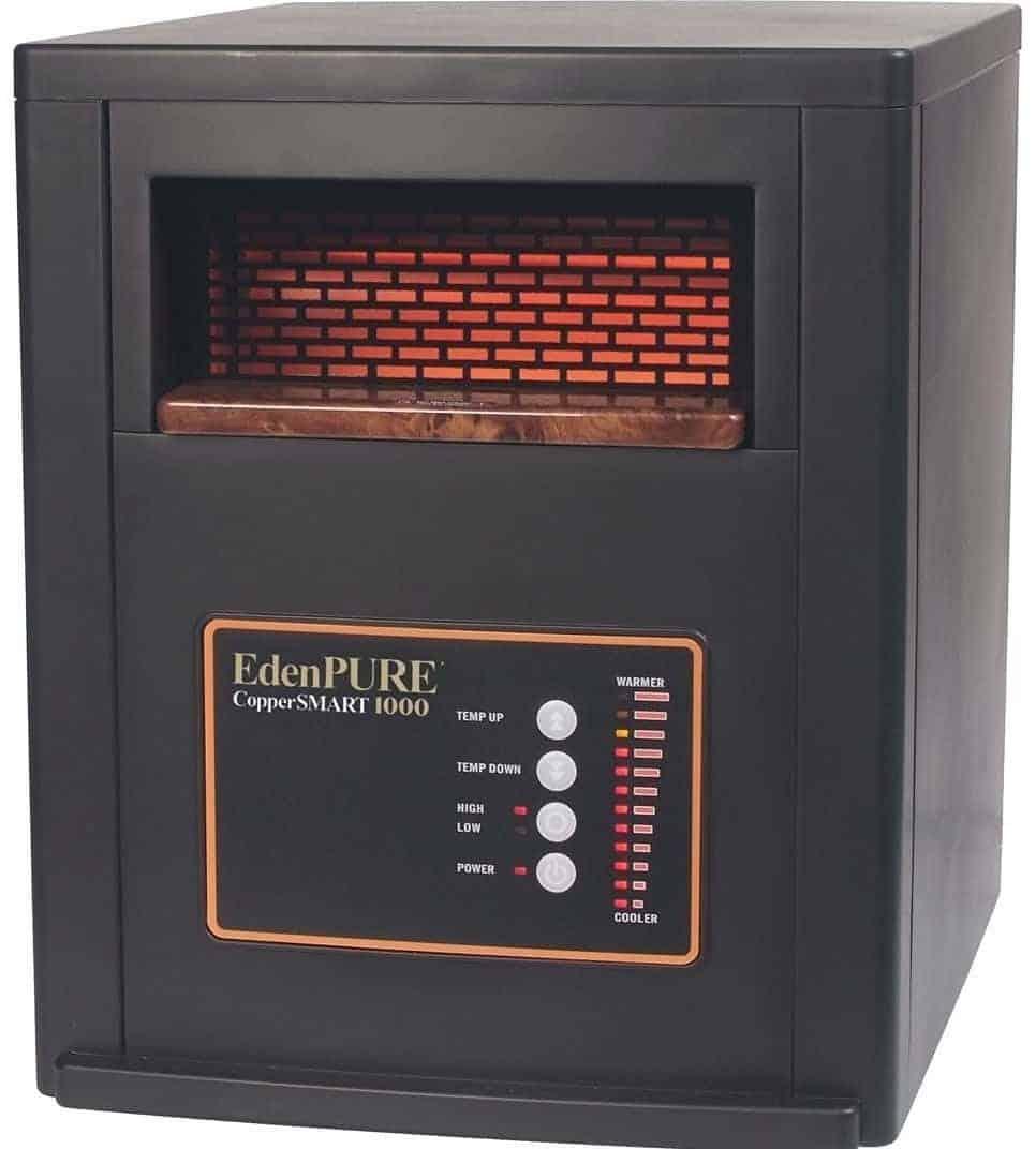 EdenPURE CopperSMART 1500-Watt Electric Portable Heater with Remote Control