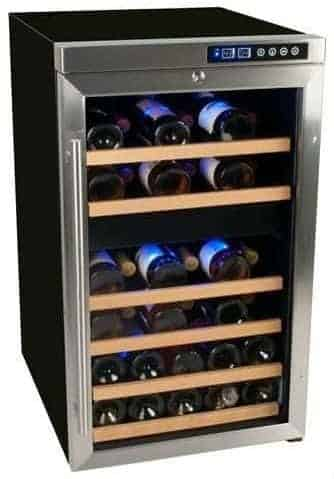 EdgeStar CWF340DZ 34 Bottle Wine Cooler with Compressor - Freestanding