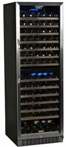 EdgeStar CWR1551DZ 155 Bottle Built-In or Freestanding Dual Zone Wine Cooler