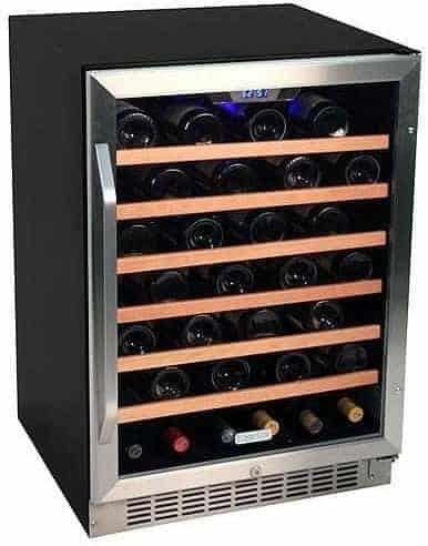 EdgeStar CWR531SZ 24 Inch Wide 53 Bottle Built-In Wine Cooler - Stainless Steel