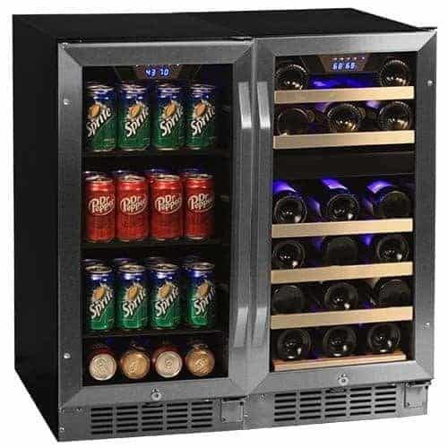 """Edgestar CWBV8026 26 Bottle + 80 Can Side-by-Side 30"""" Wide Wine & Beverage Center"""