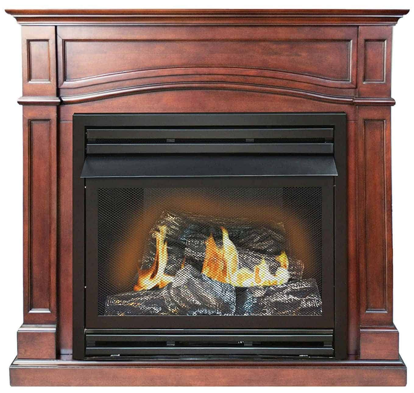 Kozy World GFD3290R The Brentmore Remote Controlled Vent Free Gas Fireplace