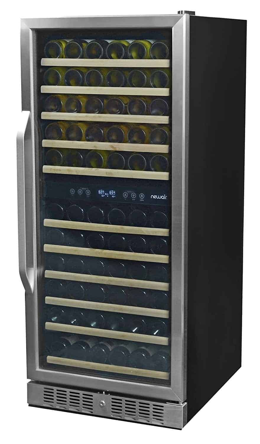 NewAir AWR-1160DB Premier Gold Series 116 Bottle Built-In Wine Cooler, Stainless Steel