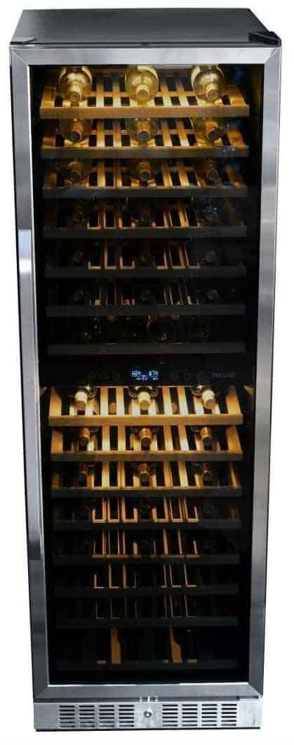 NewAir AWR-1600DB Premier Gold Series 160 Bottle Built-In WIne Cooler
