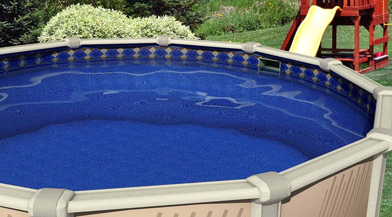 """Swimline 27'x52"""" Round Unibead Mosaic Diamond Above Ground Swimming Pool Liner-25 Gauge"""