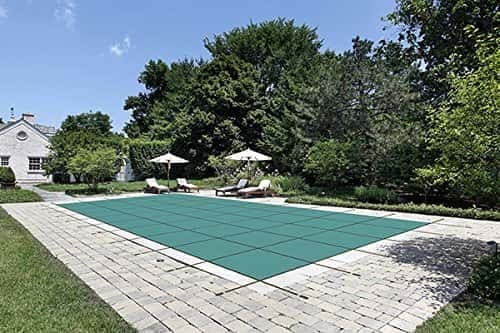 Water Warden Pool Safety Cover for a 20 x 40 Pool, Green Mesh