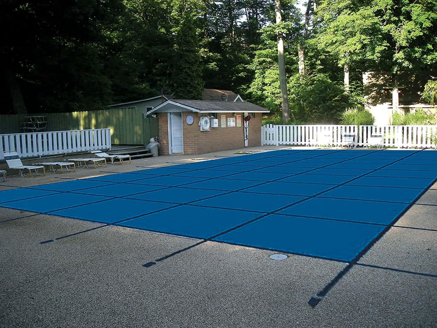 Water Warden Pool Safety Cover for a 25 x 50 Pool, Blue Mesh