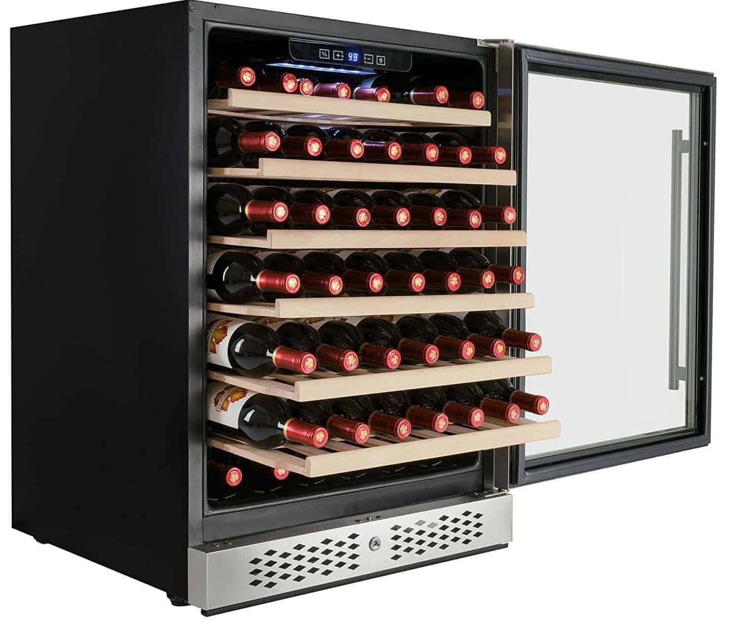 AKDY 54 Bottles Single Zone Built-in Compressor Freestanding Touch Control Panel