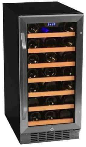 EdgeStar CWR301SZ 15 Inch Wide 30 Bottle Built-In Wine Cooler