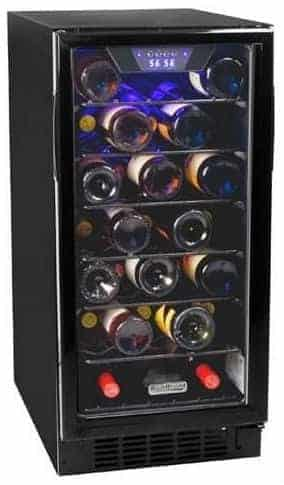Koldfront BWC300BL 30 Bottle 15 Inch Built-In Single Zone Wine Cooler