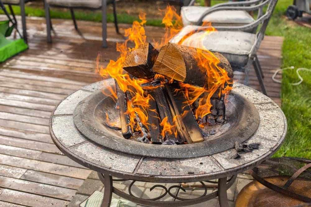 Fire Pit On Wood Deck Safety Tips