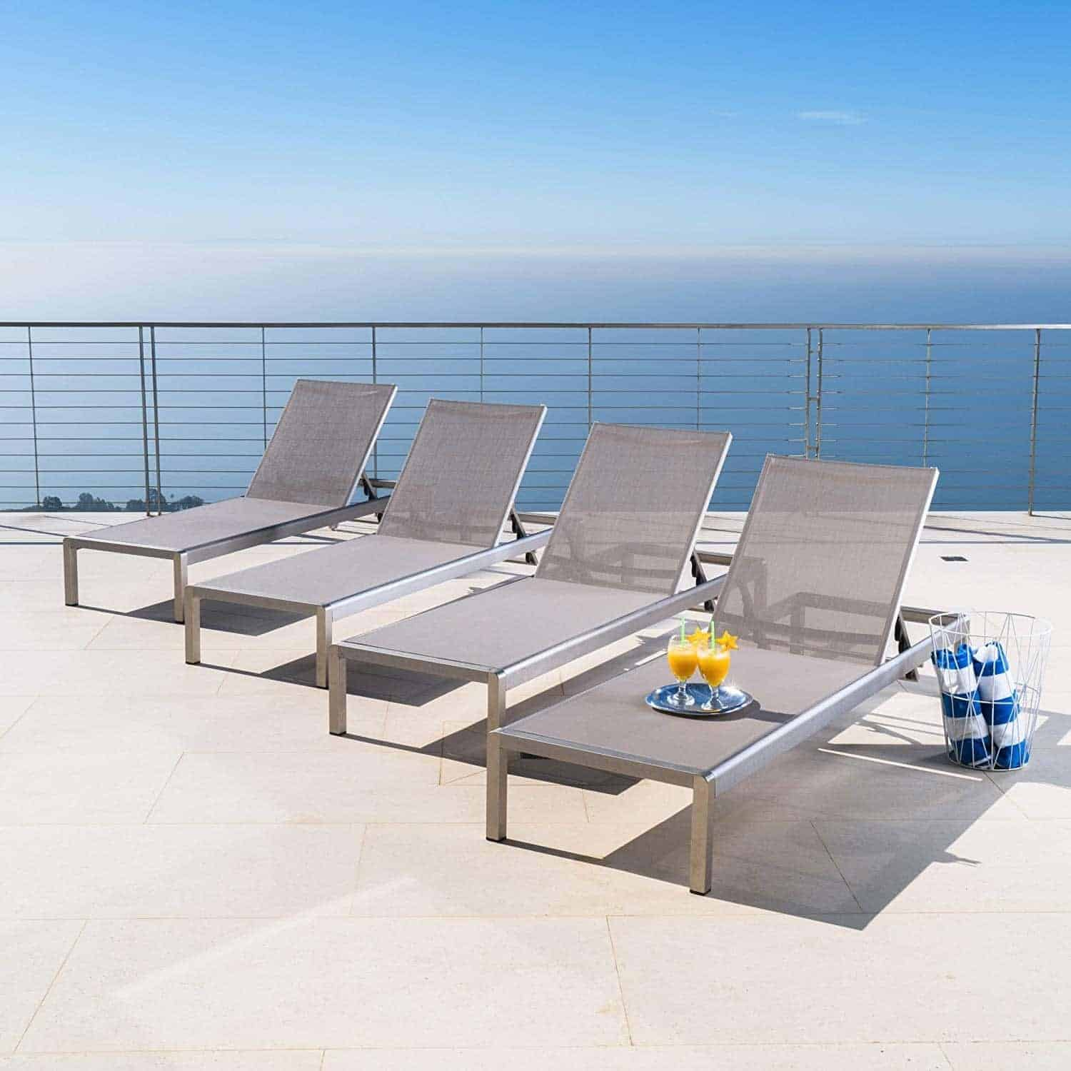 Crested Bay | Outdoor Aluminum Chaise Lounge Chair