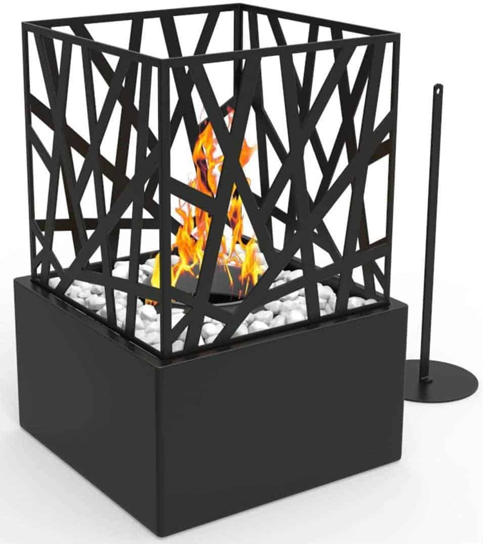Regal Flame Bruno Ventless Indoor Outdoor Tabletop Portable Fireplace