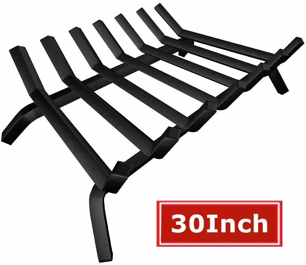 Black Wrought Iron Fireplace Log Grate