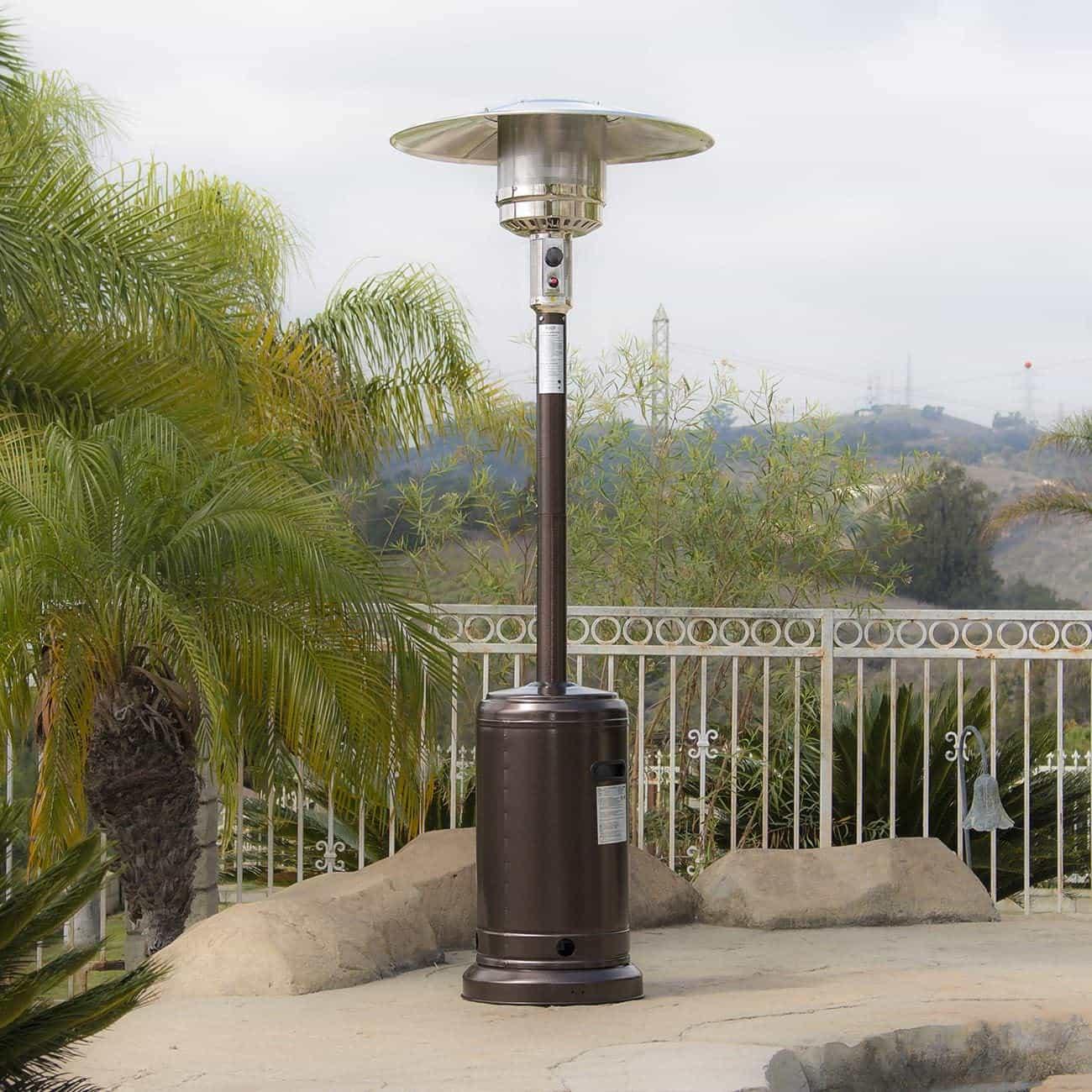 BELLEZE Premium Outdoor Patio Heater with Wheel