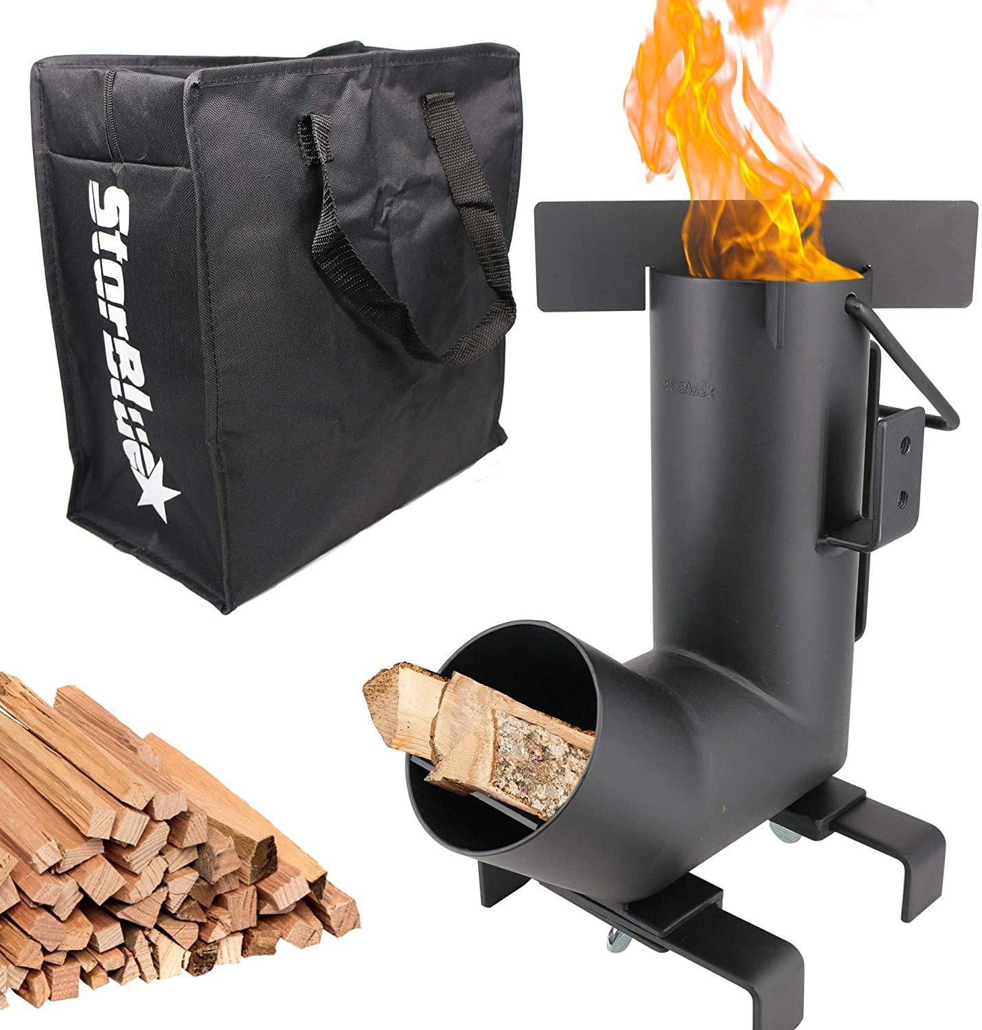 Camping Rocket Stove by StarBlue with FREE Carrying Bag