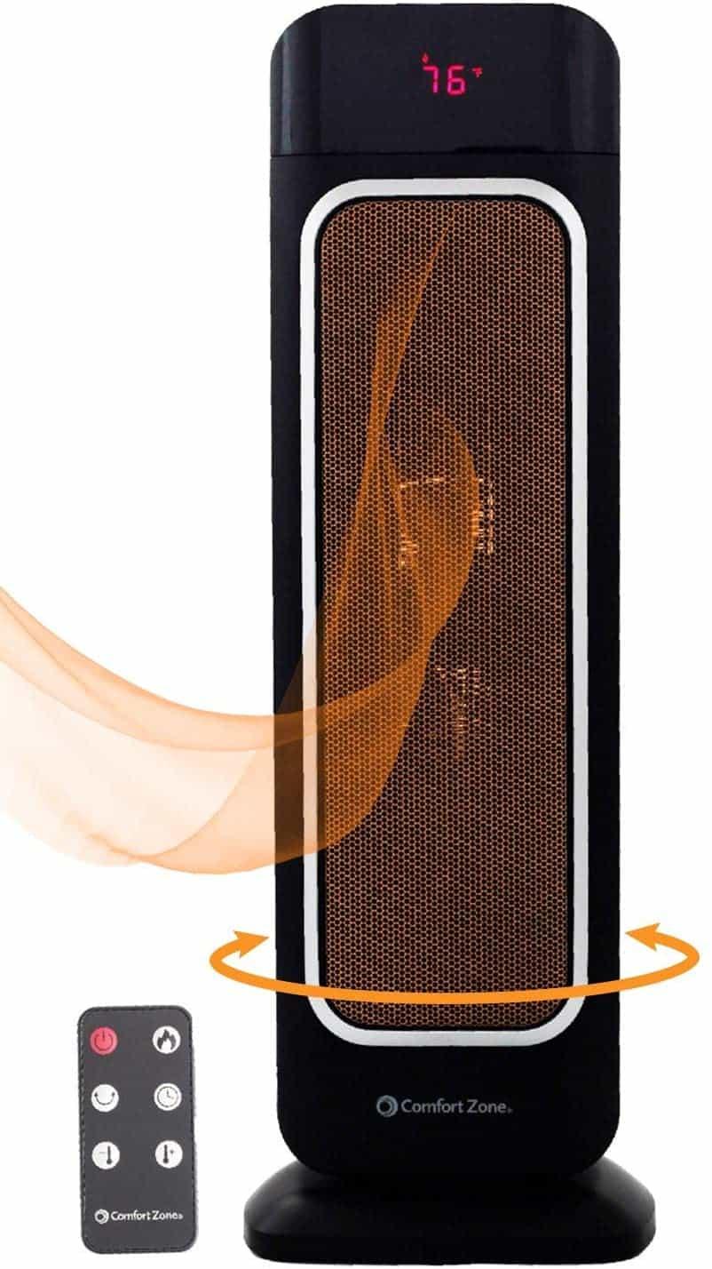 Comfort Zone Efficient ECO Oscillating Space Heater