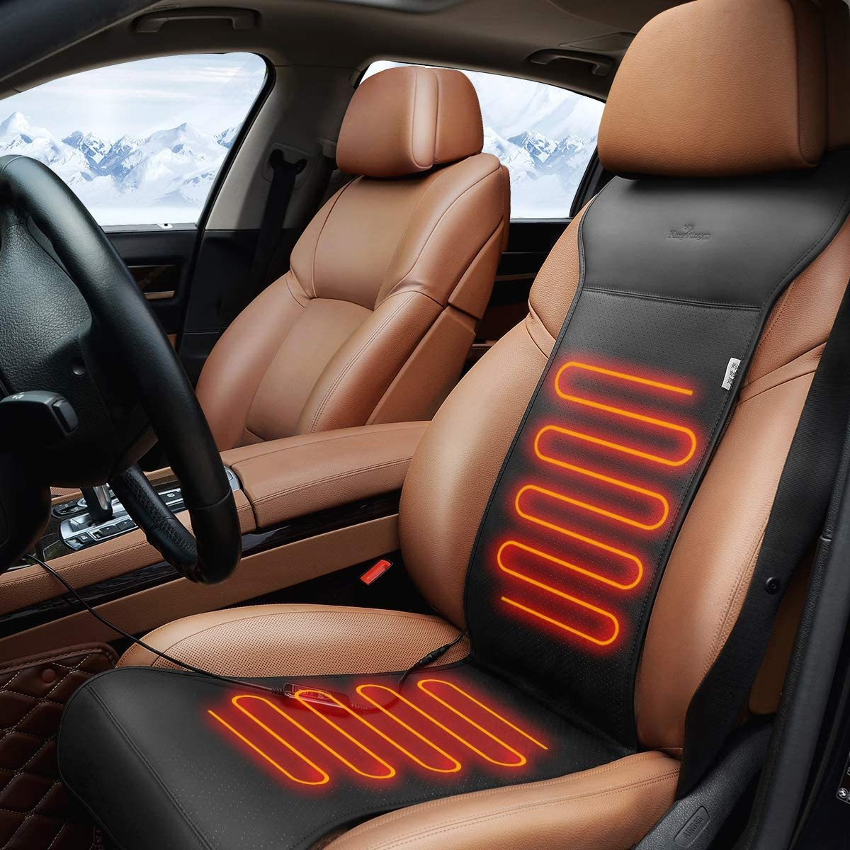 KINGLETING Heated Seat Cushion with Intelligent Temperature Controller