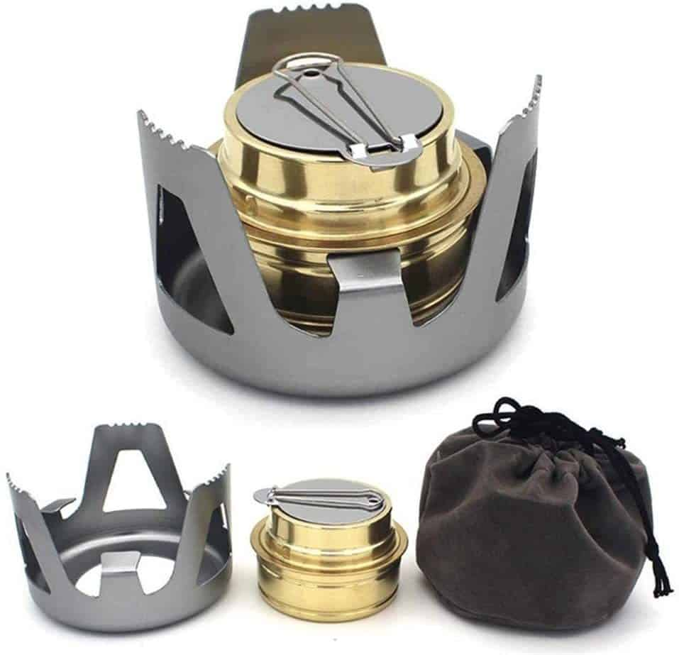 Keweis Portable Outdoor Mini Alcohol Stove