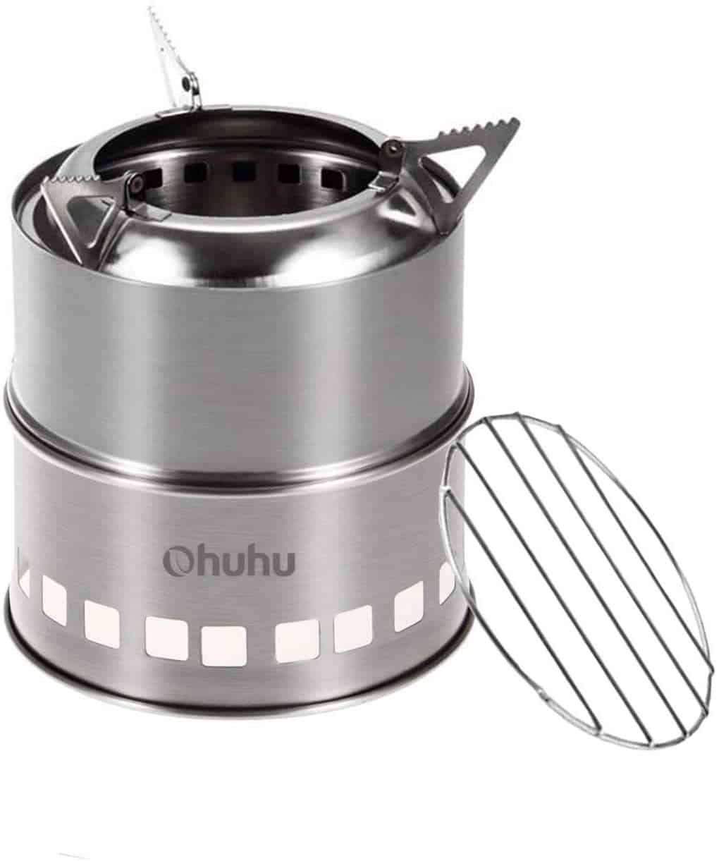 Ohuhu Stainless Steel Backpacking Potable Wood Burning Stoves
