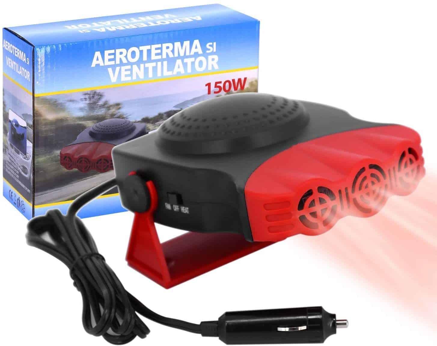 ROYADVE Portable Car Heater 12V Fast Heating Cooling Fan