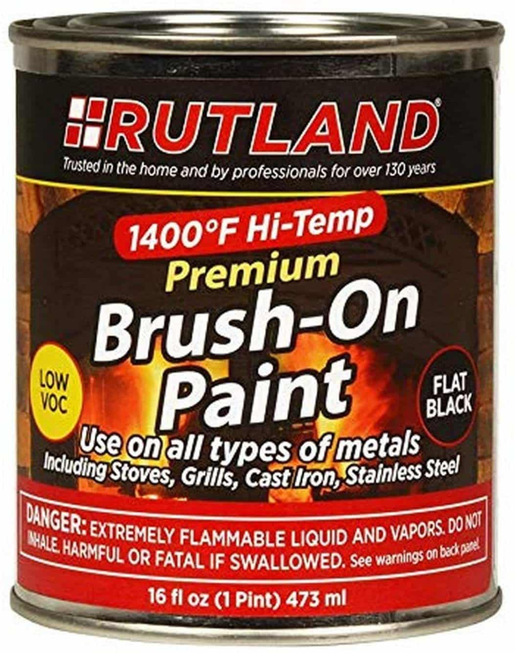 Rutland Premium Hi-Temp Brush-On Paint