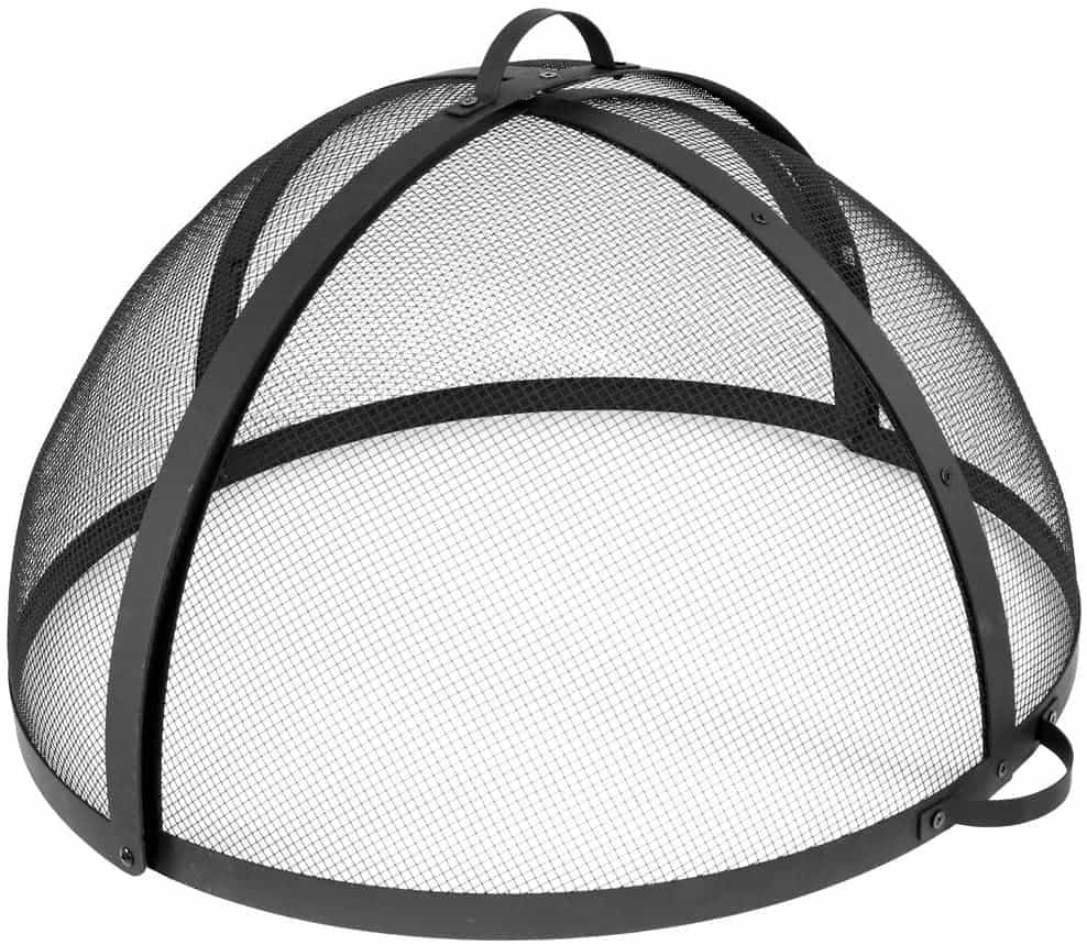 Sunnydaze Easy-Opening Fire Pit Spark Screen Cover