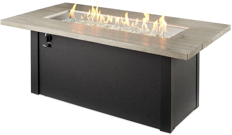 The Outdoor GreatRoom Company Cedar Ridge Linear Gas Fireplace
