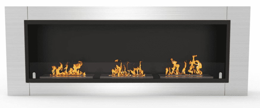 """47"""" Recessed Wall Mount Bioethanol Fireplace by ATR"""