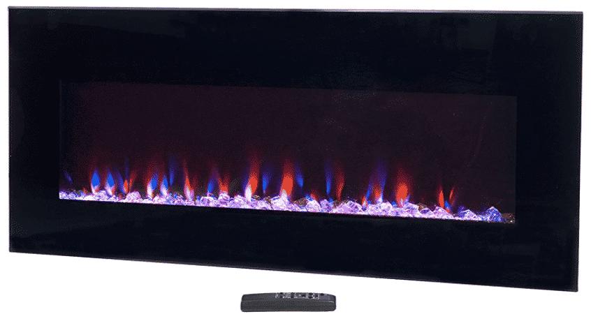 Northwest Black Electric Fireplace