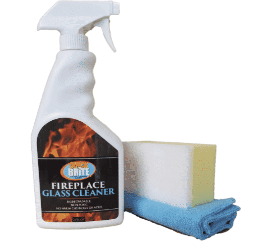 Quick N Brite Fireplace Glass Cleaner