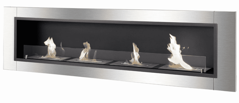 Recessed Wall Bioethanol Fireplace by IGNIS